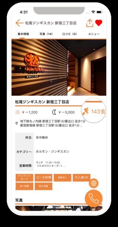 グルメアプリ